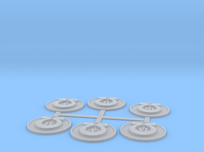 Ultra star marine Objective Markers 3d printed