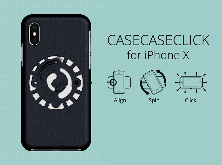 for iPhone X : smooth : CASECASE CLICK 3d printed