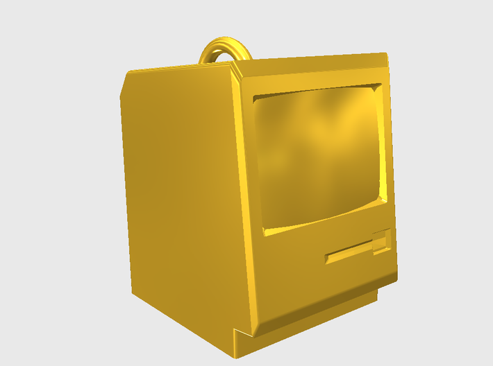 Mac Pendant 3d printed 123D Design render