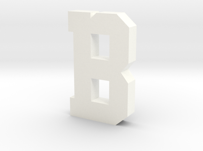 Decorative Letter B 3d printed