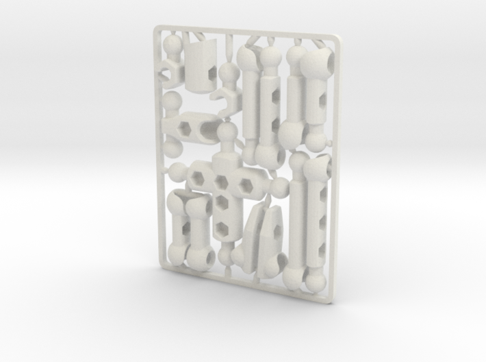 Mo DIY poseable figure kit 3d printed Mo DIY poseable figure kit