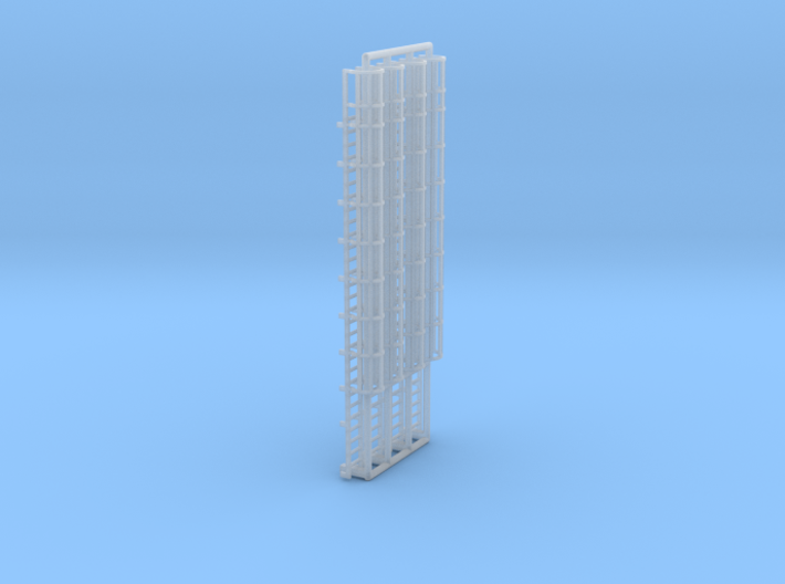 N Scale Cage Ladder 58mm (Top) 3d printed