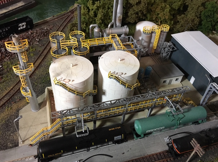 N Scale Tank Car loading Platform 2x2 3d printed Painted example, thanks for the picture Eric!