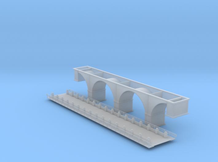 137 Ft Arch Bridge Z Scale 3d printed arch Bridge Z scale