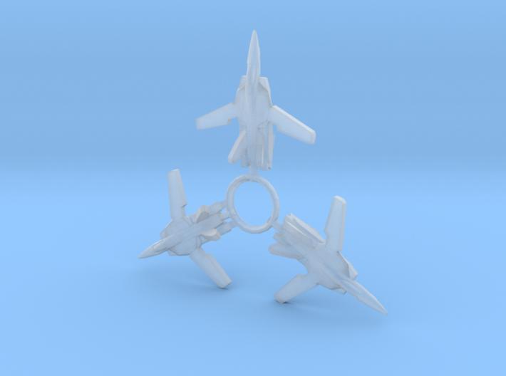 3x VF-1A 1/1000 3d printed