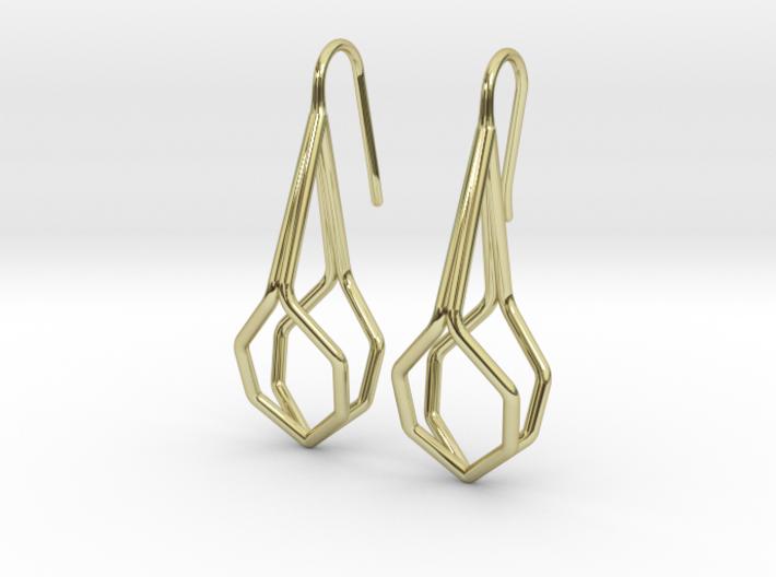 A-Line Honey Earrings. Fine Elegance. 3d printed