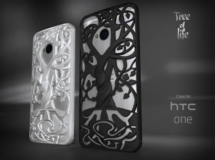 """HTC-ONE case """"Tree of life"""" 3d printed"""
