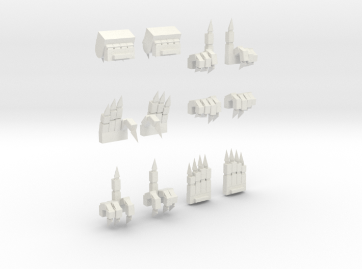 MG Wing Expressive Clawed Hands VALUE PACK 3d printed