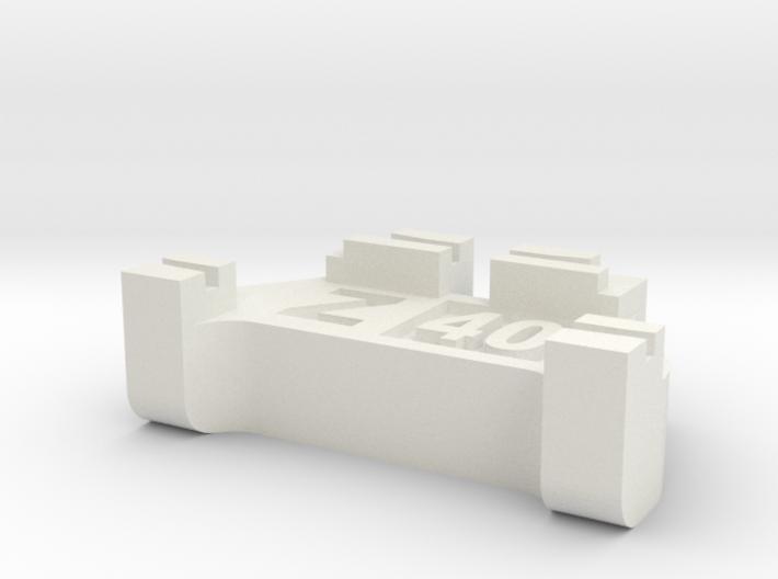 Z Scale Track Gauge - Code 40 3d printed