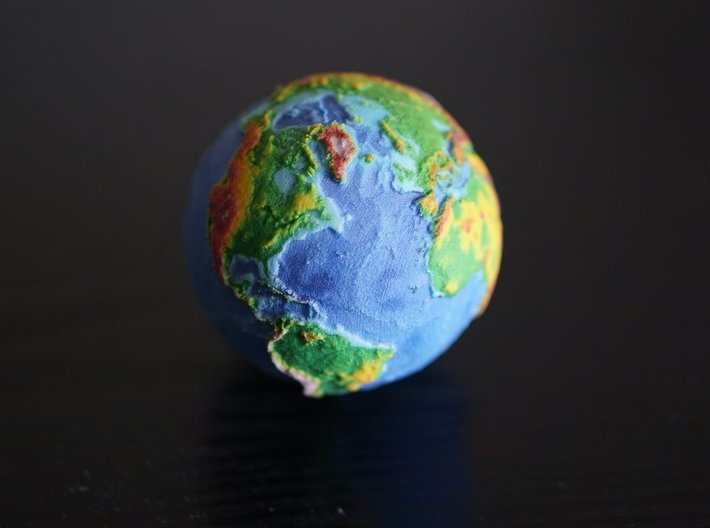Topographic Earth  3d printed