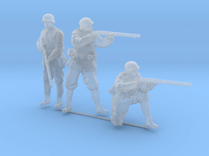 1/87th (H0) scale 3 x Hungarian soldiers 3d printed