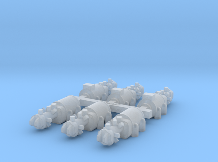 Set of 1/20th scale injection pumps for Cosworth D 3d printed