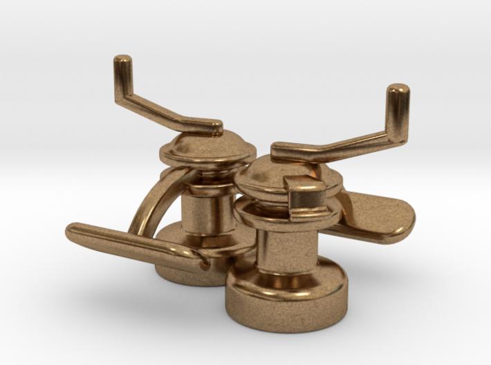 Winch Cufflinks 3d printed