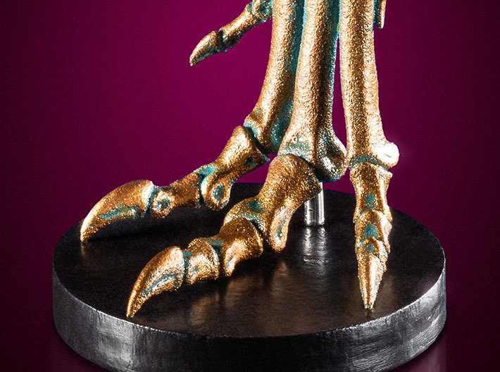 Allosaurus - dinosaur foot model 3d printed Acrylic paint for faux bronze effect