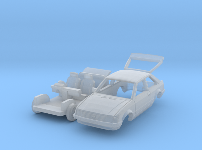Ford Escort with open tailgate (British N 1:148) 3d printed