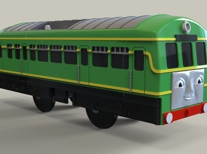 Plarail Compatible Railcar 3d printed Example of intended finish