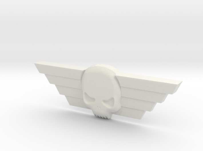 Winged Skull Imperial Guard Badge 40k 8.3cm 3d printed
