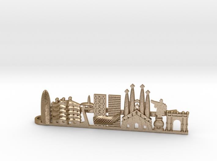 Tie Clip Barcelona 3d printed