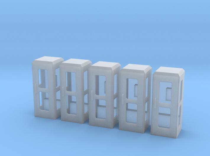5 Telefonzelle (1:160) 3d printed