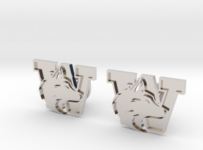 University of Washington Cufflinks, Customizable 3d printed