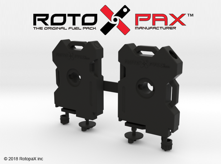 TR10018 TRX-4 RotopaX door mount BLACK 3d printed