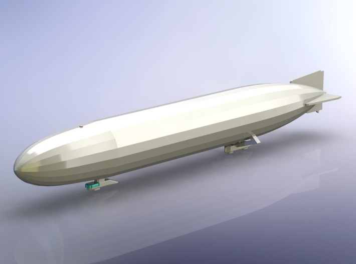 German Airship Zeppelin L10 (LZ 40) 1/2400 3d printed