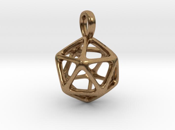 Icosahedron Platonic Solid Pendant 3d printed