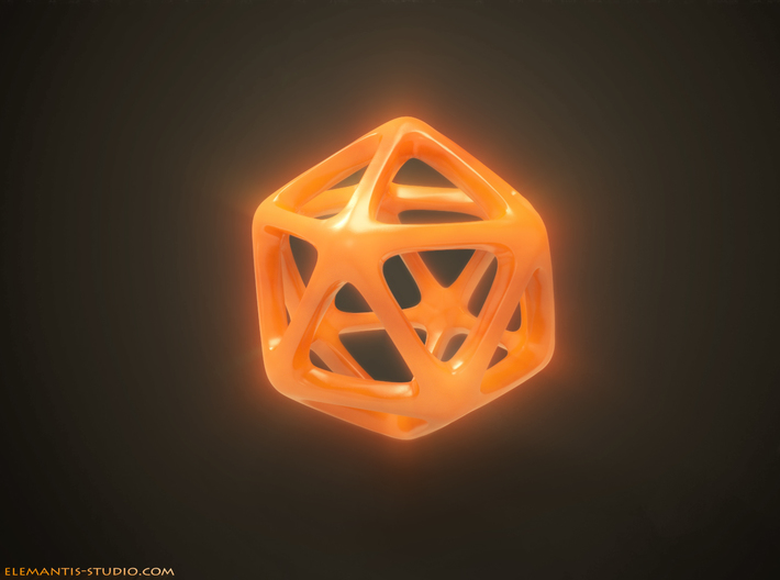 Icosahedron Platonic Solid 3d printed