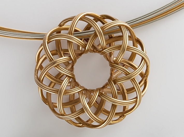 Rosa-8c3x (from $15) 3d printed Rosa-8c3x rose gold plated