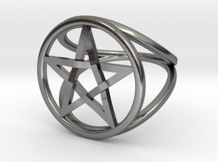 Pentacle ring - crossing 3d printed
