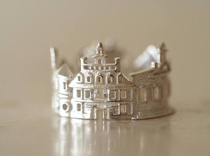Williamsburg Ring - Architect Jewelry 3d printed