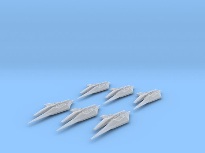 NR Var'Nic Long Range Destroyer 6-pack Full Thrust 3d printed