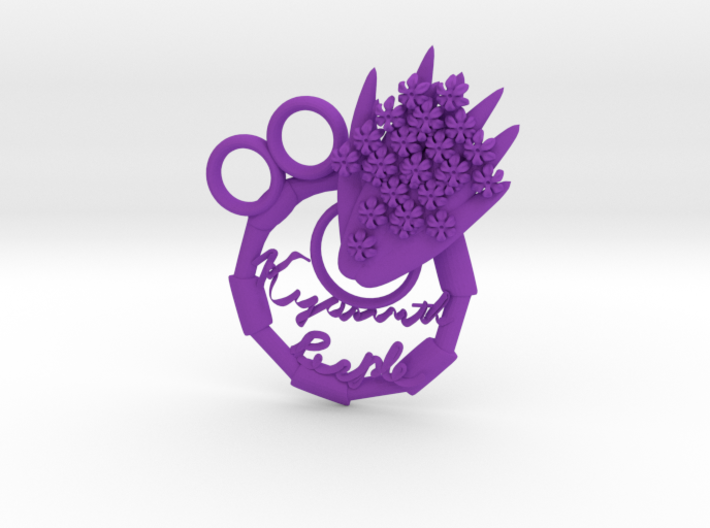 Purple Hyacinth 3d printed