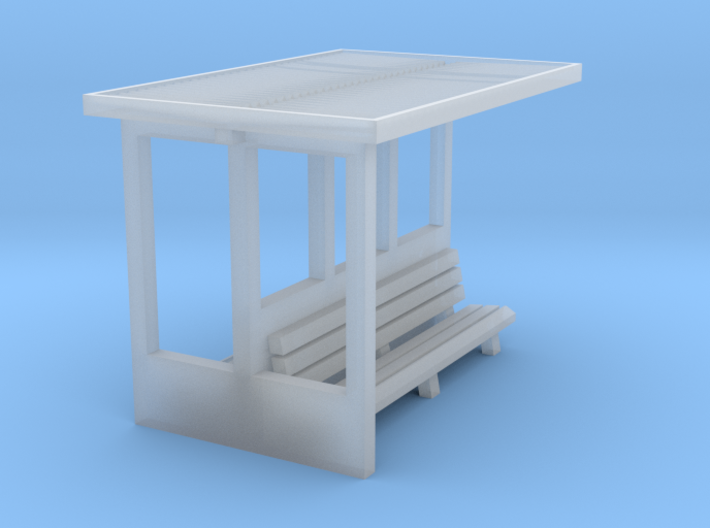 Waiting shelter for island platform (N 1:160) 3d printed