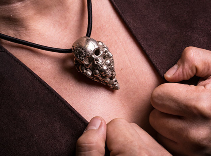 Nuclear Decimation: Skull Pendant 3d printed