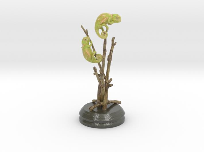 Chameleon desktop display 3d printed