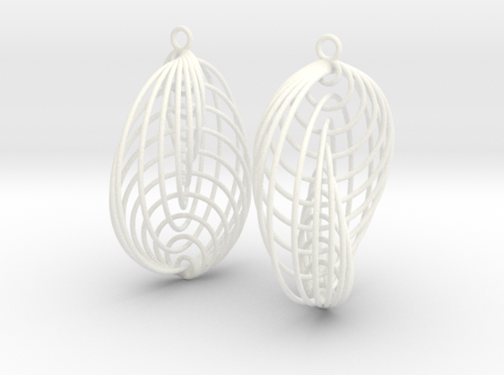 Running in Circles - Earrings 3d printed