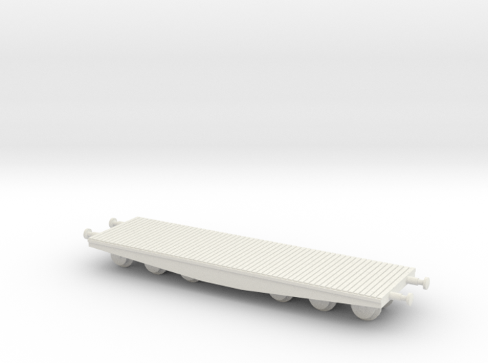 1/144 80 ton wagon for Tiger transport 3d printed