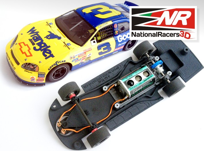 3D Chassis - SCX Chevrolet MonteCarlo 2005 (Combo) 3d printed Chassis compatible with SCX model (slot car and other parts not included)