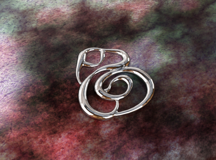 Swirly circles 3d printed silver material