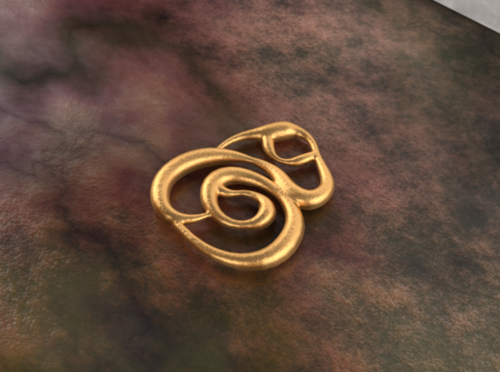 Swirly circles 3d printed bronze material