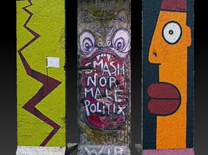 The Berlin Wall 03 3d printed