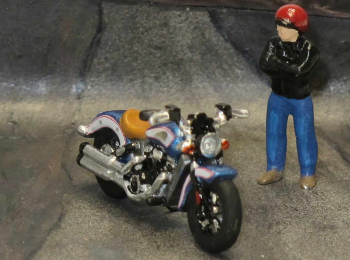 Indian Scout 2016  1:87  HO  3d printed