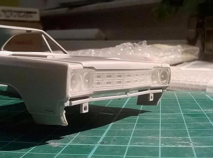 1/25 1968 Plymouth Roadrunner Grill 3d printed printed sample