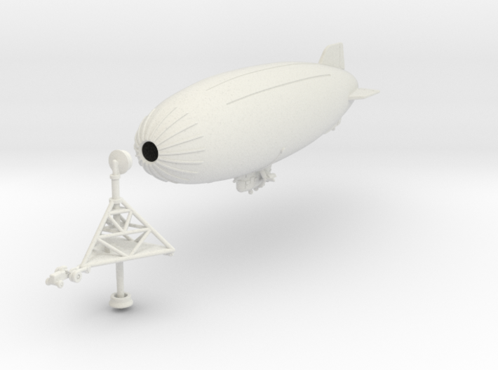 K Ship with Mobile Mooring Mast 3d printed