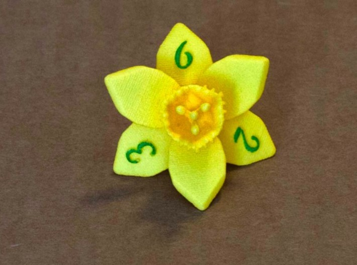 Daffodil D6 3d printed Numbers hand-inked.  Current version.