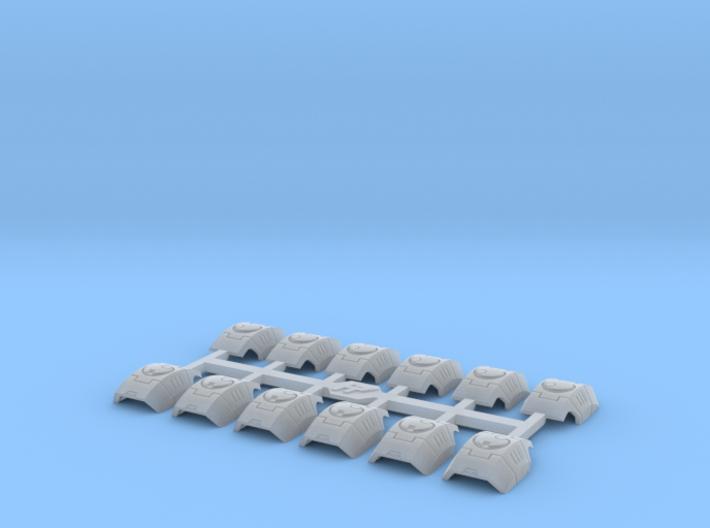Shoulder Pads Curved Alfa 1 3d printed