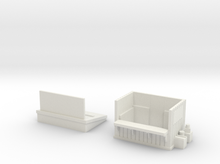 Newspaper Stand HO Scale 3d printed