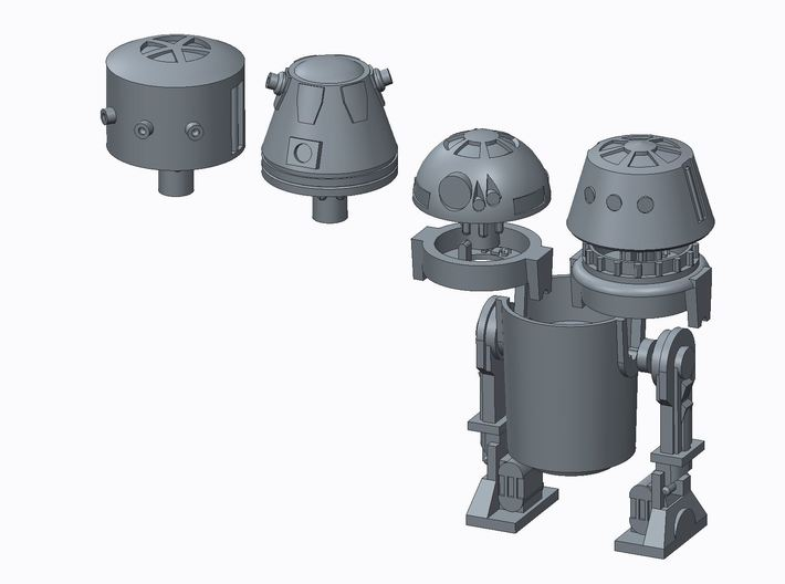 PRHI Kenner Astromech Kit - R5 Head 3d printed