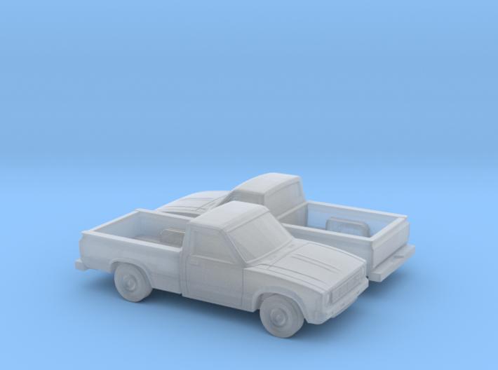 1/160 2X 1978-83 Toyota Hilux 3d printed